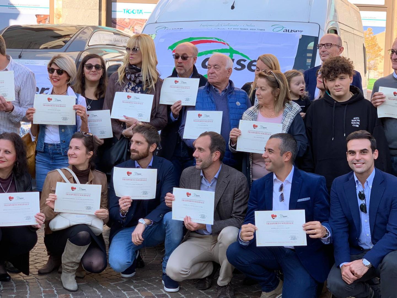 Progetti del Cuore: consegnati 5 nuovi automezzi per il trasporto di persone in difficoltà all'Auser di Gallarate